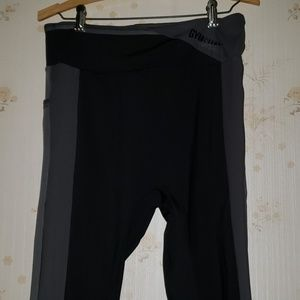 Gymshark Colorblock Leggings in Black XL